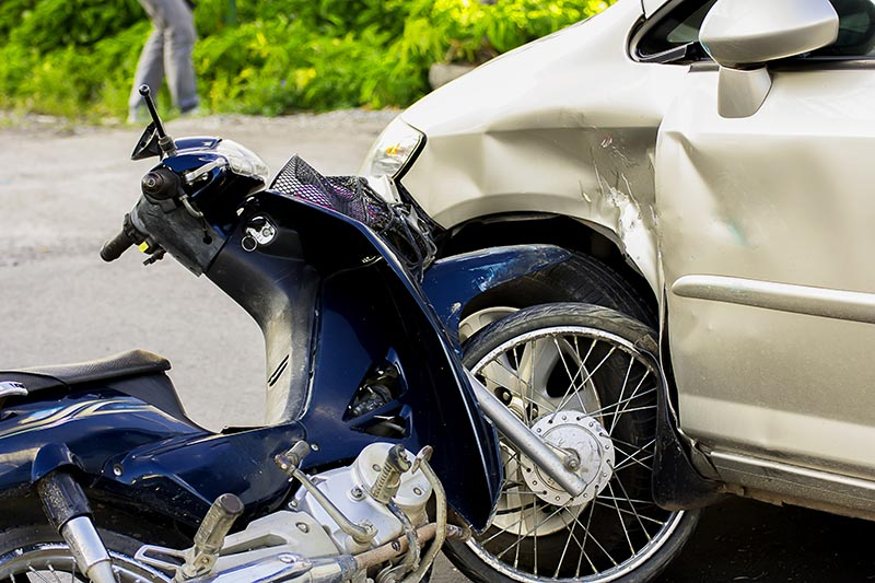 motorcycle collision with car | Luis Guerra Personal Injury Trial Attorneys | Phoenix, Arizona